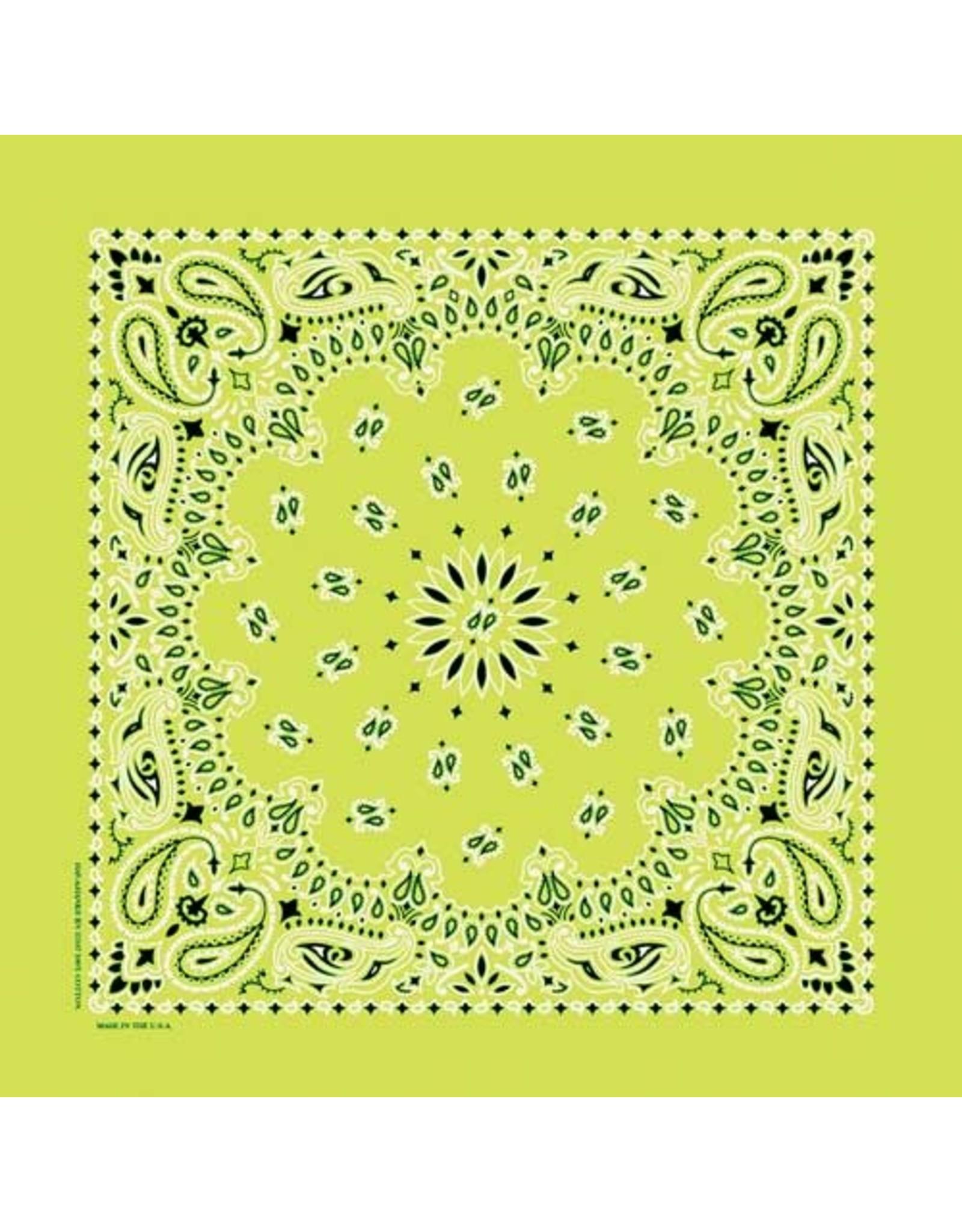 The Bandanna Co. Bandanna Co. Paisley Lime 22'' X 22''