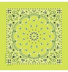 The Bandanna Co. Bandanna Co. Paisley Lime 22'' X 22''