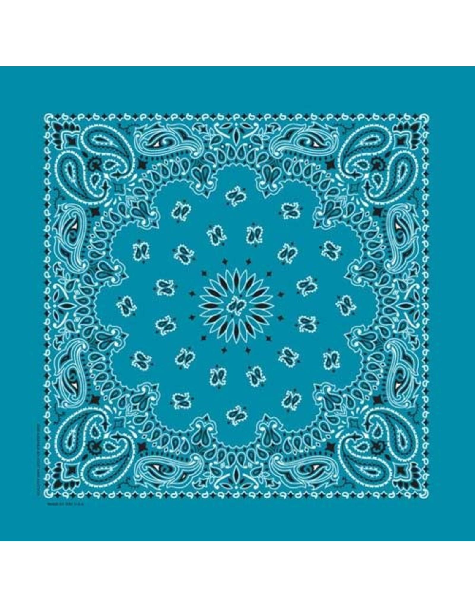 The Bandanna Co. Bandanna Co. Paisley Turquoise 22'' X 22''