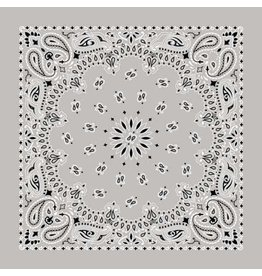 The Bandanna Co. Bandanna Co. Paisley Silver 22'' X 22''