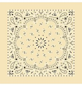 The Bandanna Co. Bandanna Co. Paisley Beige 22'' X 22''