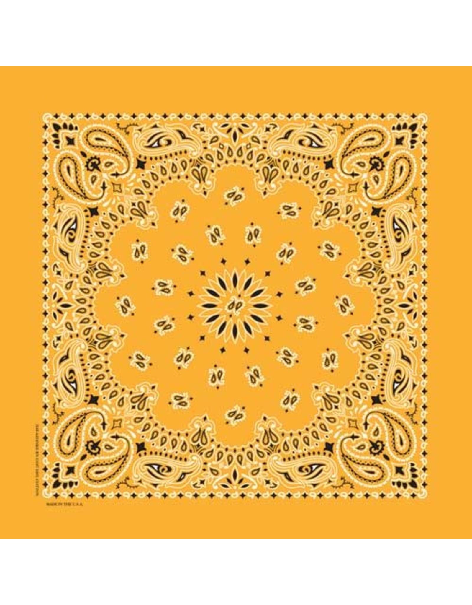 The Bandanna Co. Bandanna Co. Paisley Gold 22'' X 22''