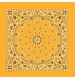 The Bandanna Co. Bandanna Co. Paisley Gold 22'' X 22''