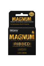 Trojan Trojan Magnum Ribbed 3 Pack