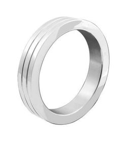 M2M M2M Cockring Stainless Steel Band 3 Groove