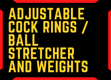 Adjustable Cock Rings / Ball Stretcher and Weights