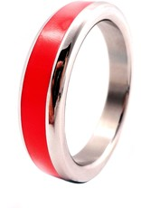 M2M M2M Stainless Steel Cockring with Color Band