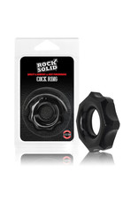 Rock Solid Silicone Cock Ring Black