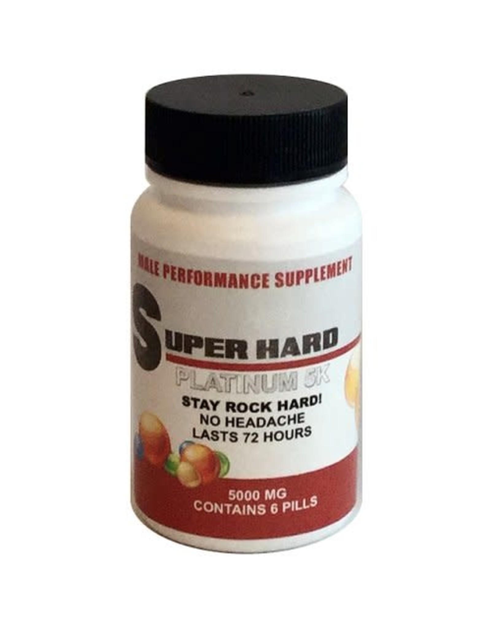 Rock Hard Pills Super Hard Platinum 5K - 6 ct