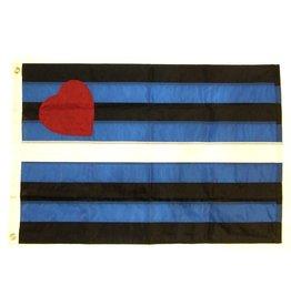 Pride not Prejudice Pride... Flag Leather Pride Nylon 2'x3'