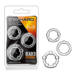 Stay Hard Stay Hard Beaded Cockrings - 3 pack