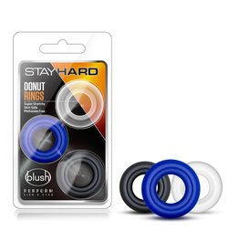 Stay Hard Stay Hard Donut Cockrings - 3 pack