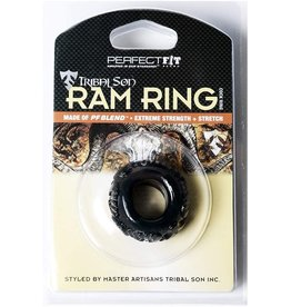 Perfect Fit Brand Perfect Fit Brand Tribal Son Ram Ring Ice Black