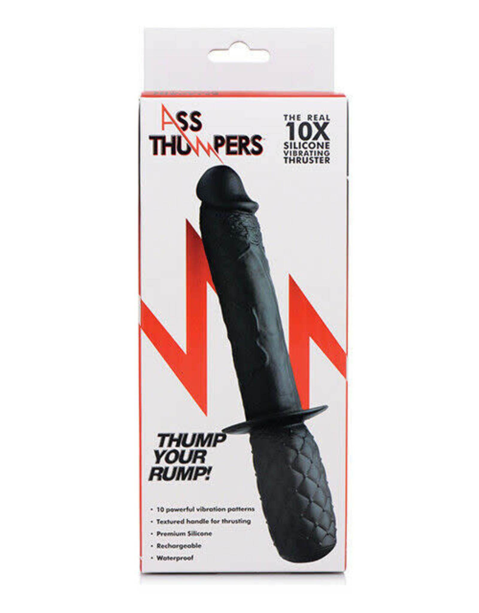 Ass Thumpers Ass Thumpers Real 10x Silicone Vibrating Thruster - Black