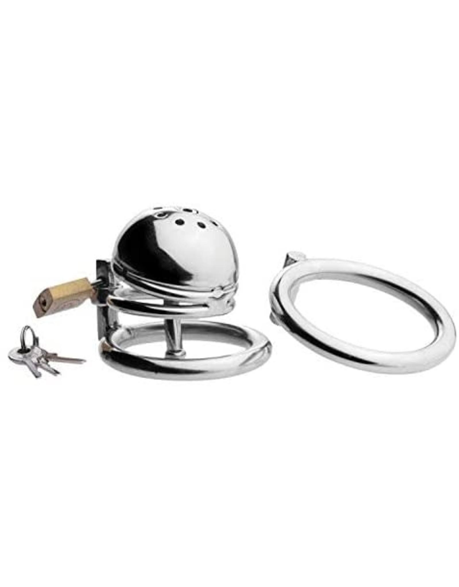 Master Series Master Series Solitary Plus Extreme Confinement Cage with Cum-Thru Plug