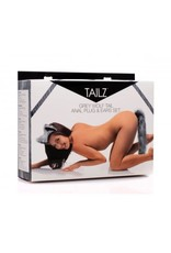 Tailz Tailz Grey Wolf Tail Plug and Ear Set