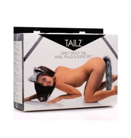 Tailz Tailz Grey Wolf Tail Plug and Ear Set
