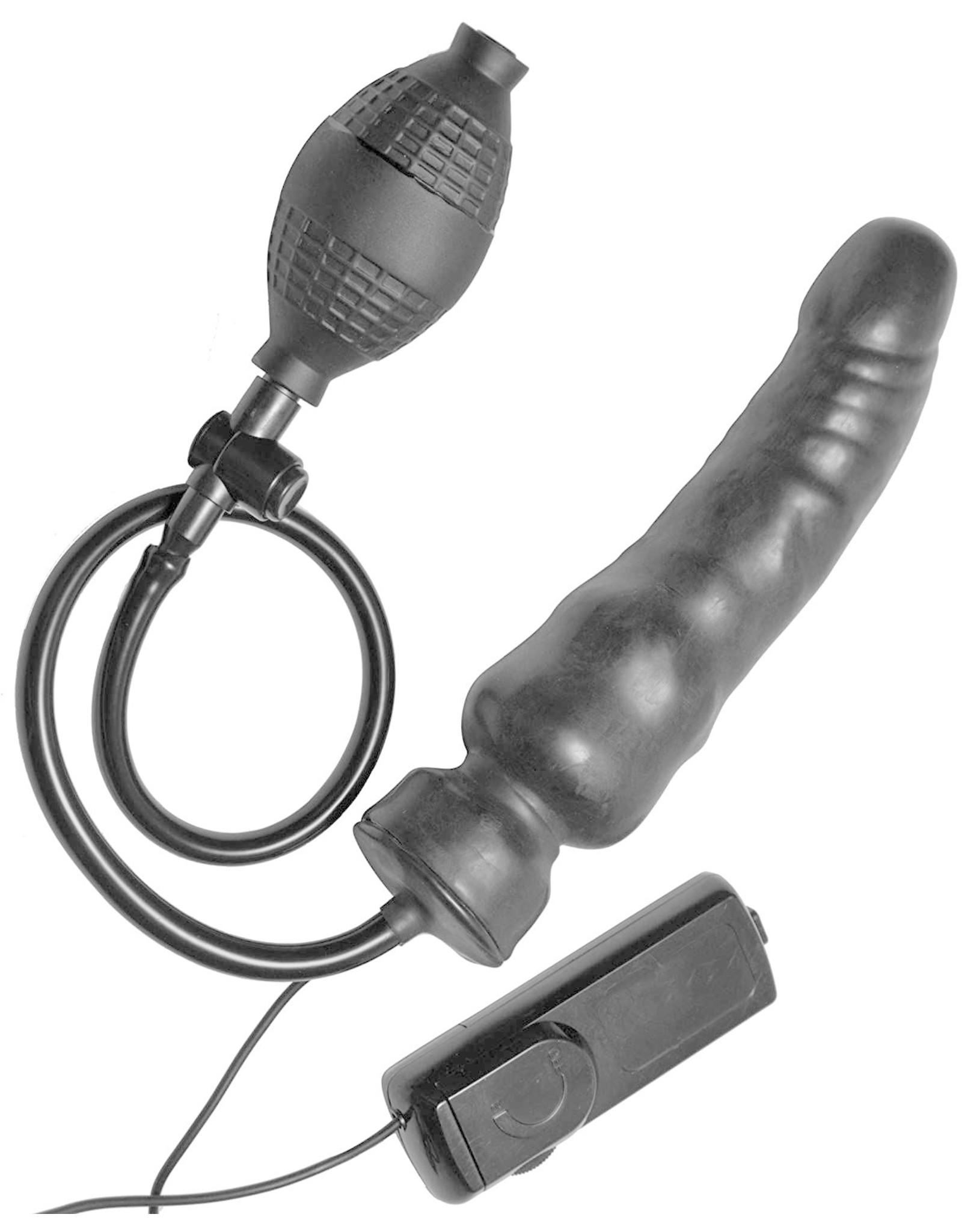 "Master Series Master Series Ravage Vibrating Inflatable Dildo 7.5"""
