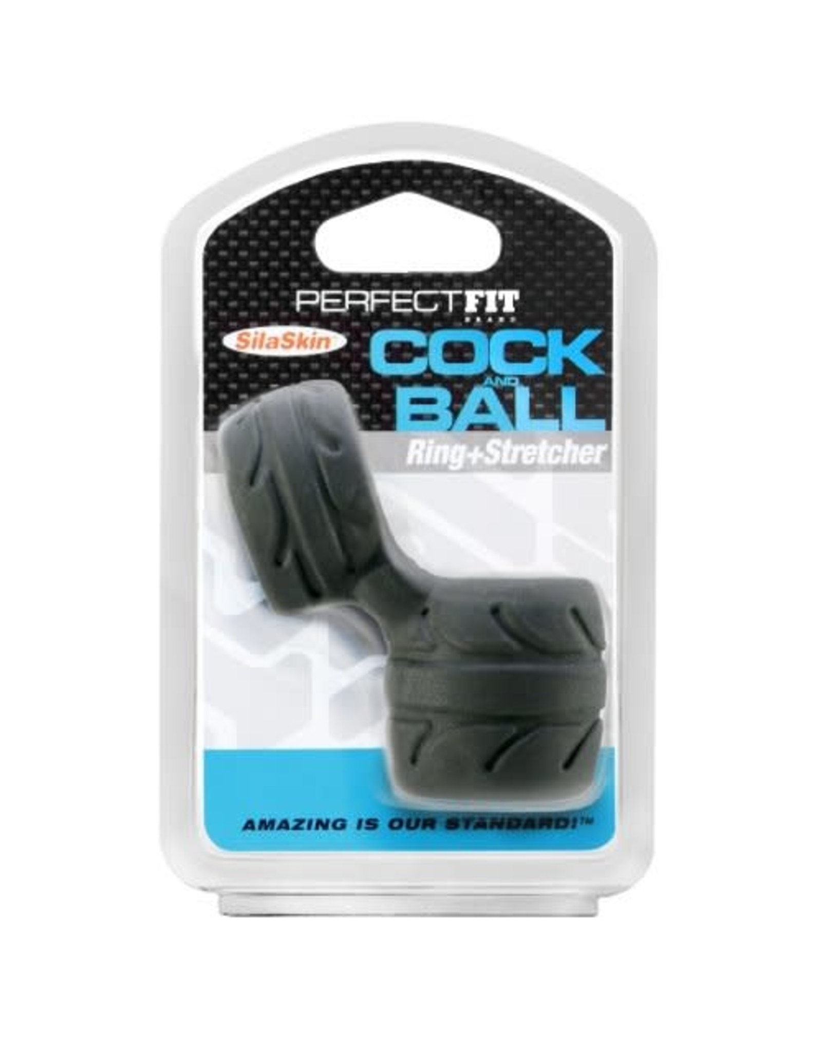 Perfect Fit Brand Perfect Fit Brand SilaSkin Cock & Ball Black