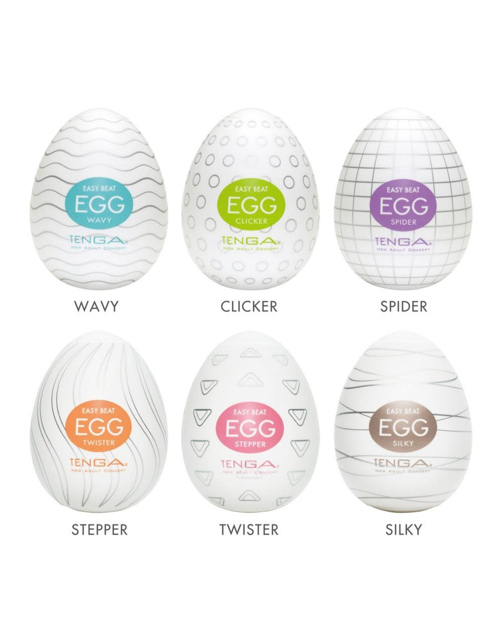 Tenga Tenga Egg Variety Pack - 6 Colors