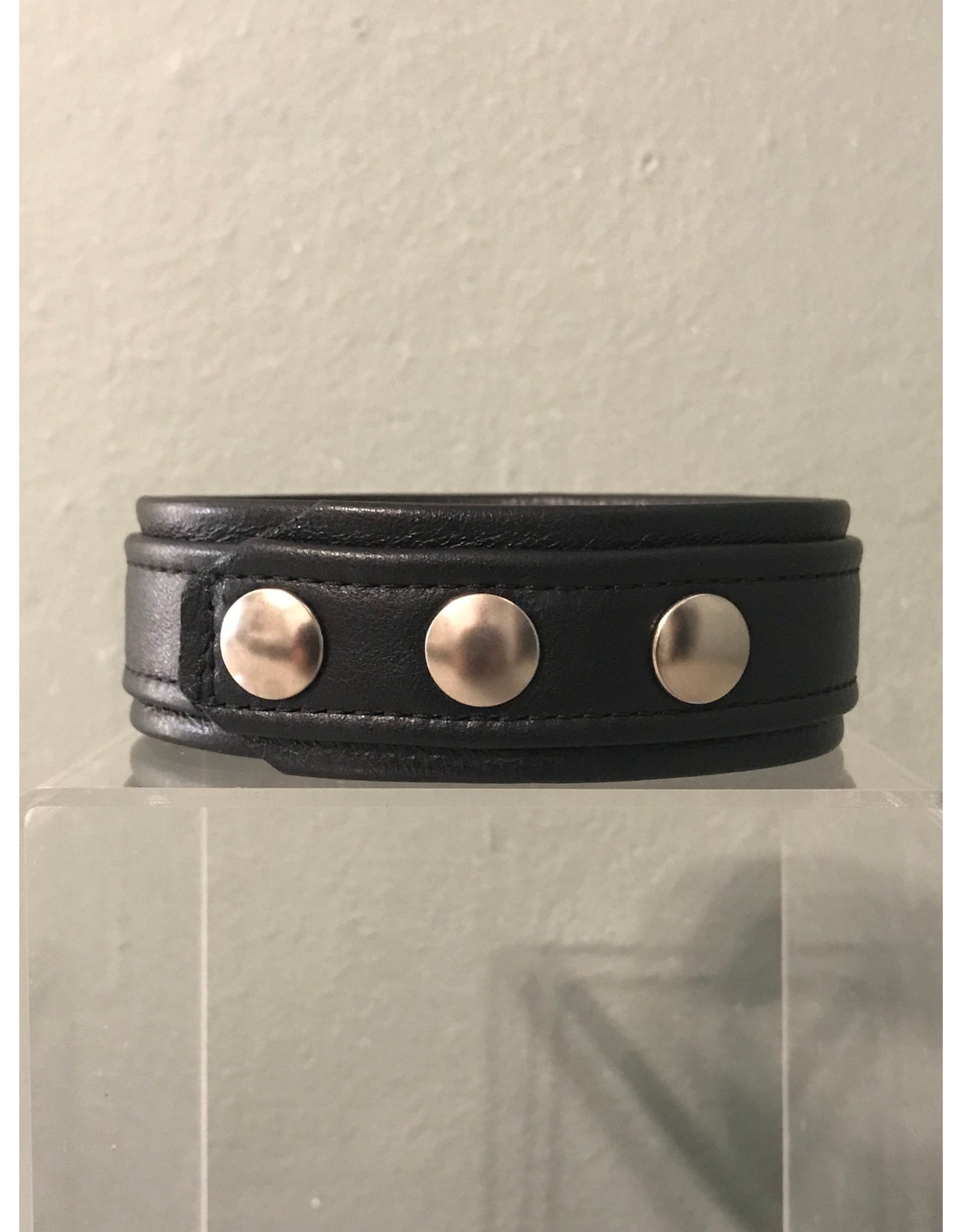 Doghouse Leathers Crafting DH Leathers 3 Snap Armband with Piping