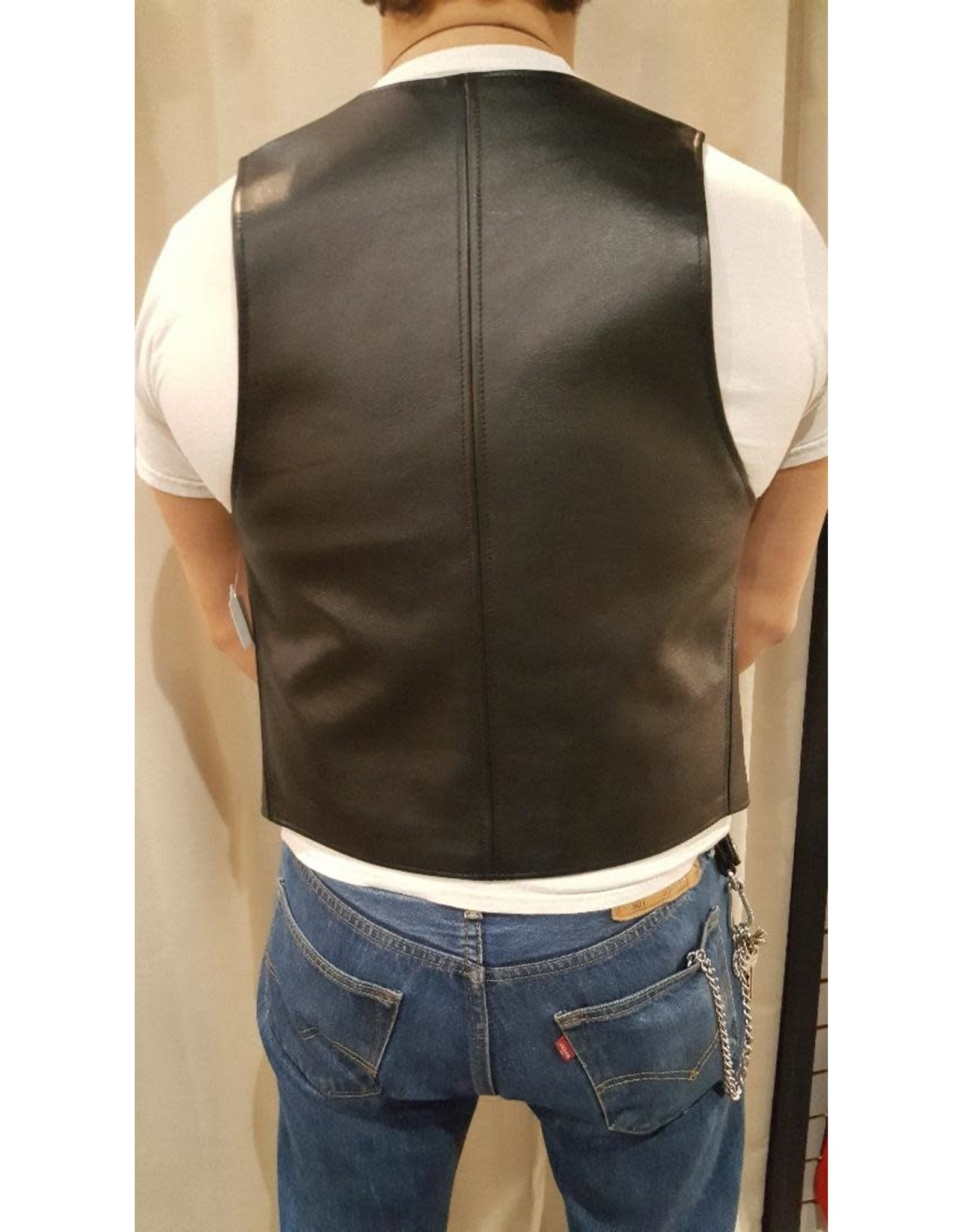 Doghouse Leathers Crafting DH Leathers Bar Vest with Color Stripe