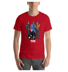 Peachy Kings Tom of Finland Village People Tee Red
