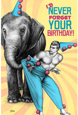 "Peachy Kings Tom of Finland ""Elephant"" Birthday Card"