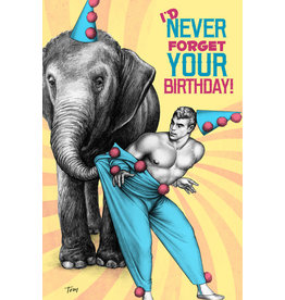 "Peachy Kings Tom of Finland ""Elephant"" Birthday Card"