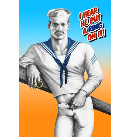 "Peachy Kings Tom of Finland ""Put a Ring on it"" Card"