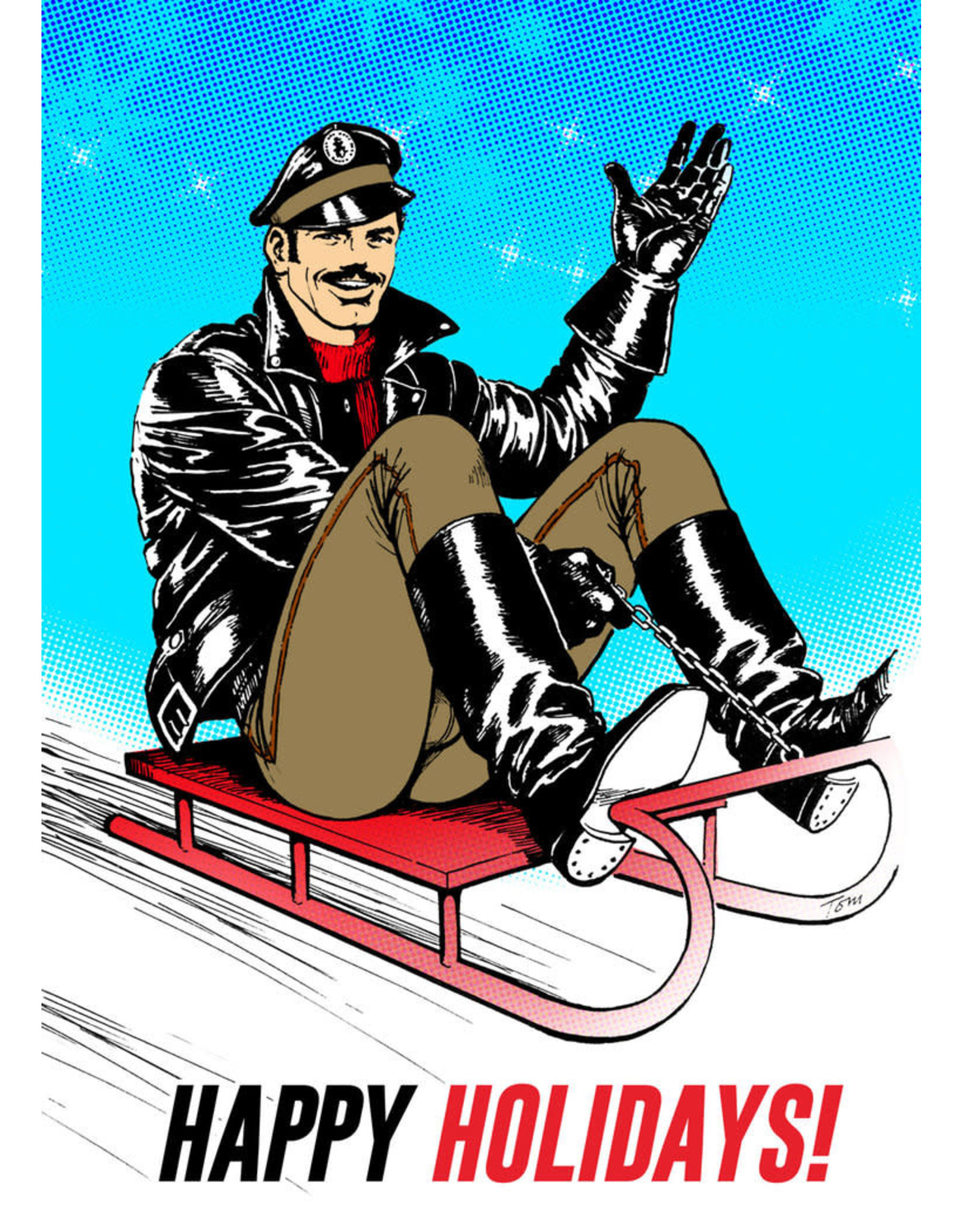 """Peachy Kings Tom of Finland """"Sleigh Ride"""" Holiday Card"""