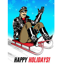 "Peachy Kings Tom of Finland ""Sleigh Ride"" Holiday Card"