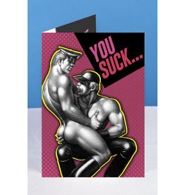 "Peachy Kings Tom of Finland ""You Suck"" Greeting Card"