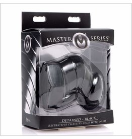 Master Series Master Series Detained - Black Restrictive Chastity Cage