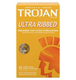 Trojan Trojan Ribbed Condoms 12pk