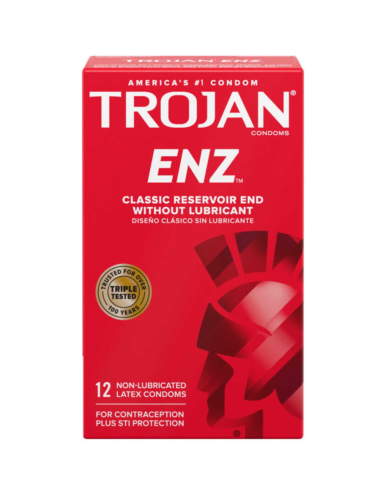 Trojan Trojan Enz Non-Lubricated 12 Pack