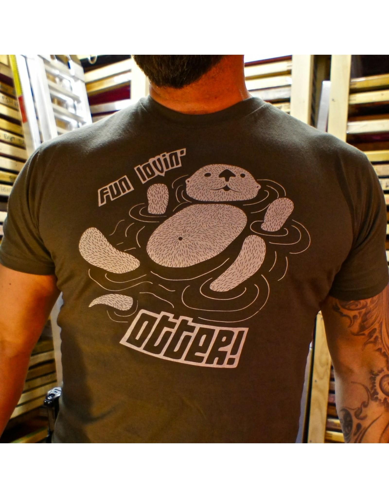 Shane Ruff Studio Burly Shirts Fun Lovin' Otter