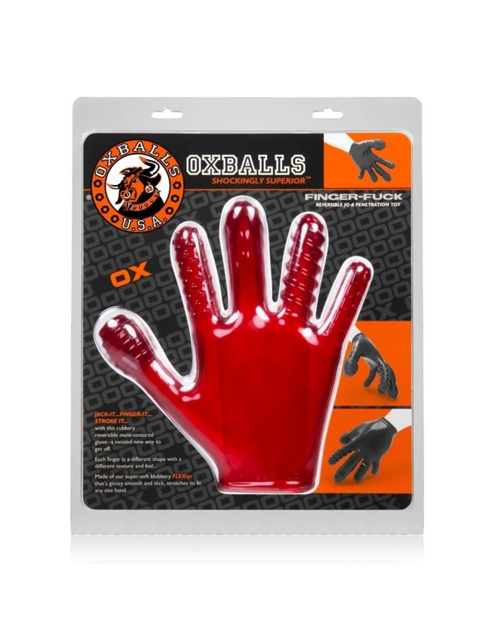 Oxballs OxBalls Finger Fuck Textured Gloves