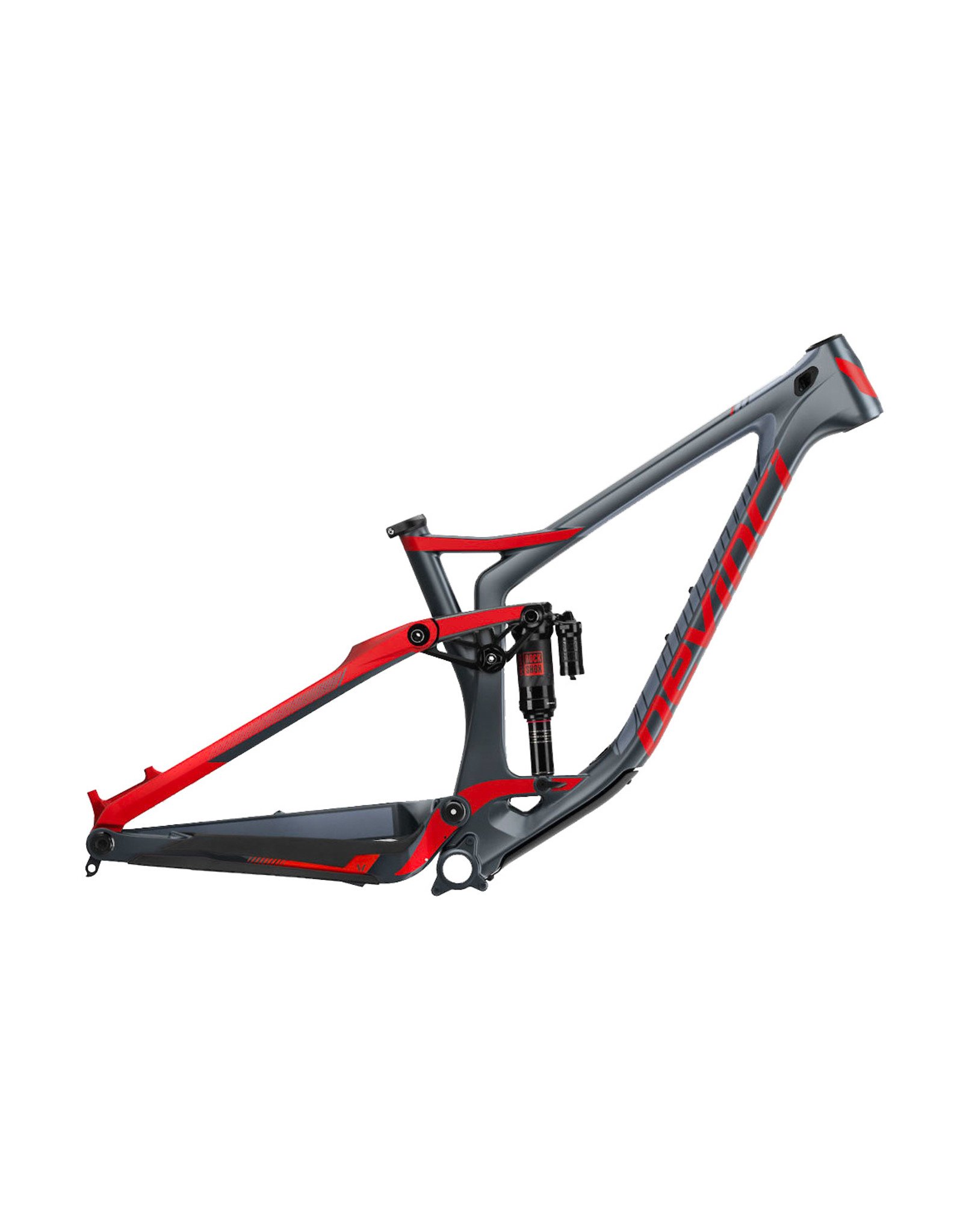 Devinci Troy Carbon Frame Only Tectonic Red - XS