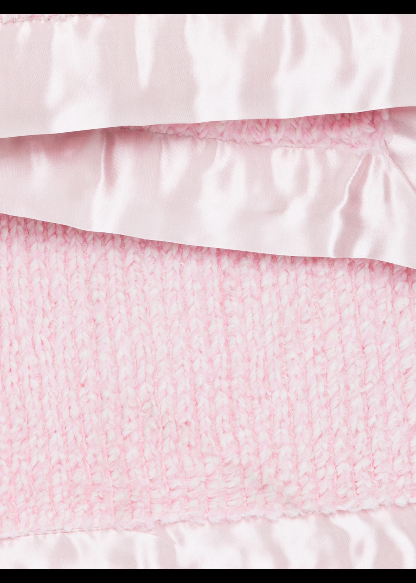 Little Giraffe Little Giraffe Pink Luxe Herringbone Blanket