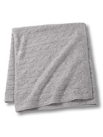 Grey Cashmere Cable Baby Blanket