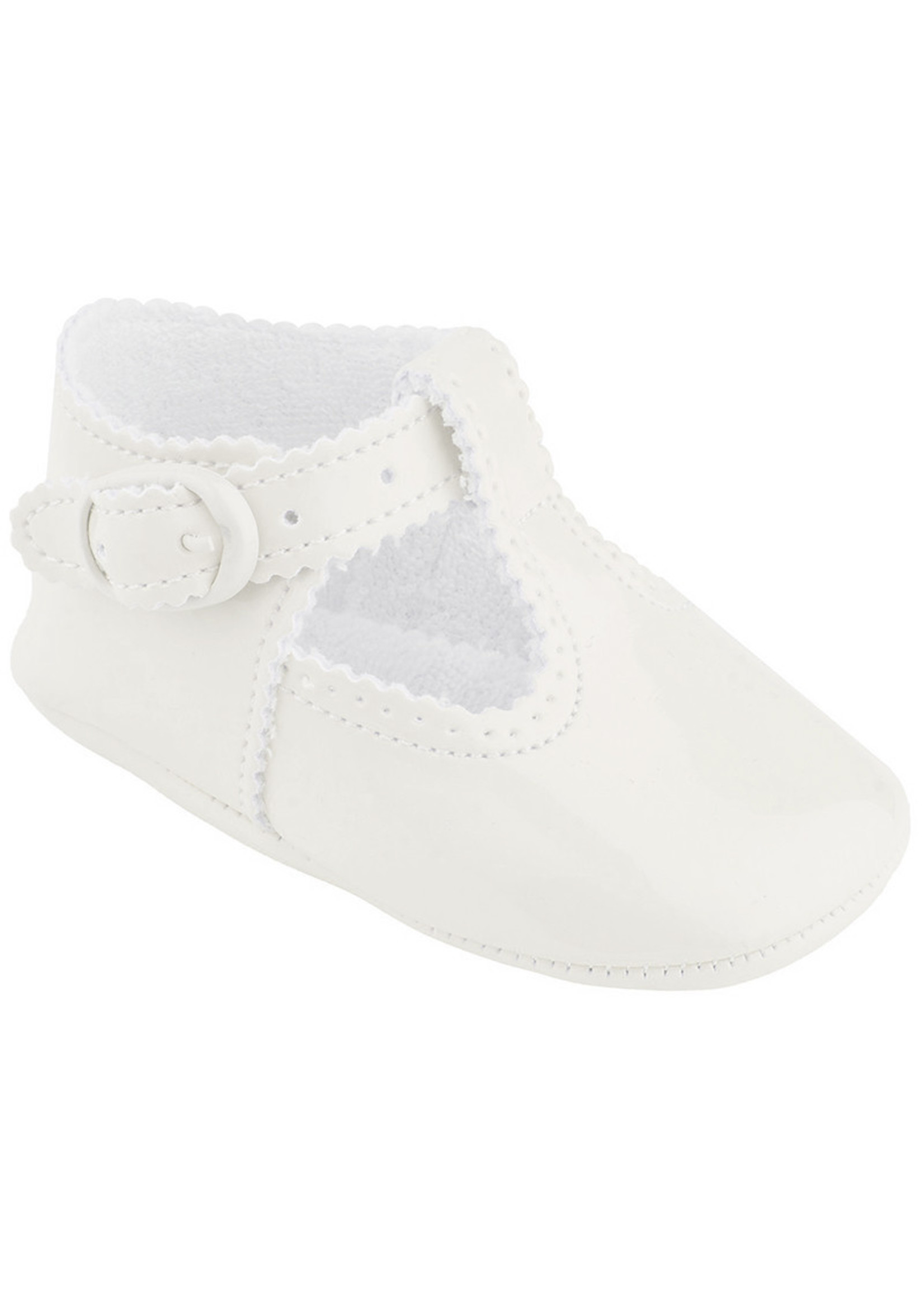 Cuquito Ivory Leather Baby Shoe