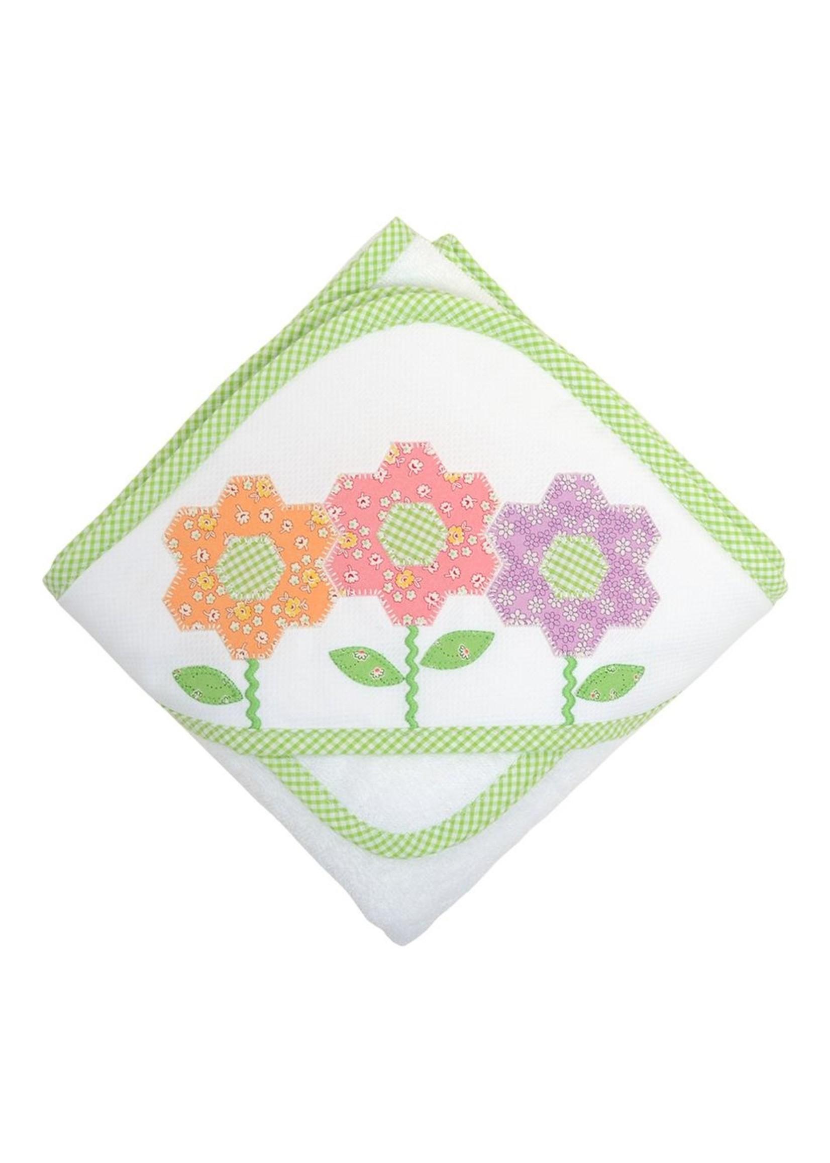 3 Marthas Rainbow Daisy Hooded Towel Set