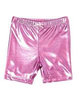 Pink Chicken Pink Chicken Pink Metallic Bike Shorts