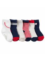 Robeez 6-Pair Batter Up Baby Socks