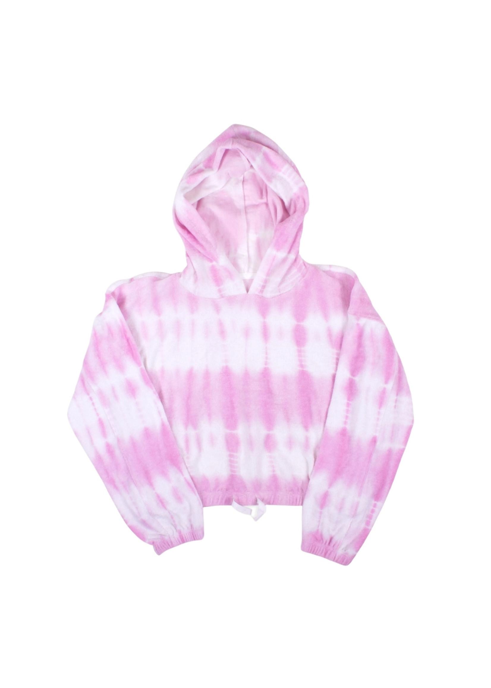 Shade Critters Pink Tie Dye Terry Hoodie