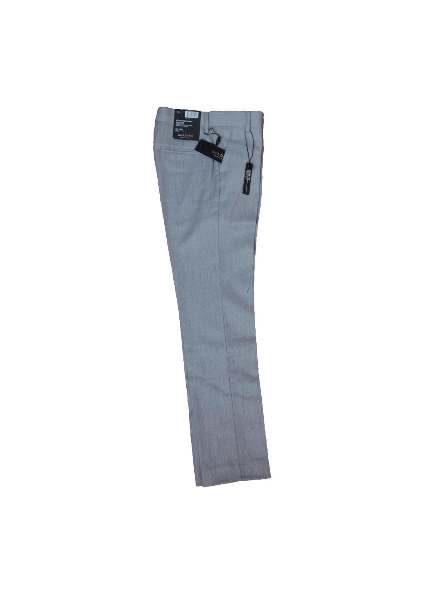 Boys Gray Slim Fit Dress Pant