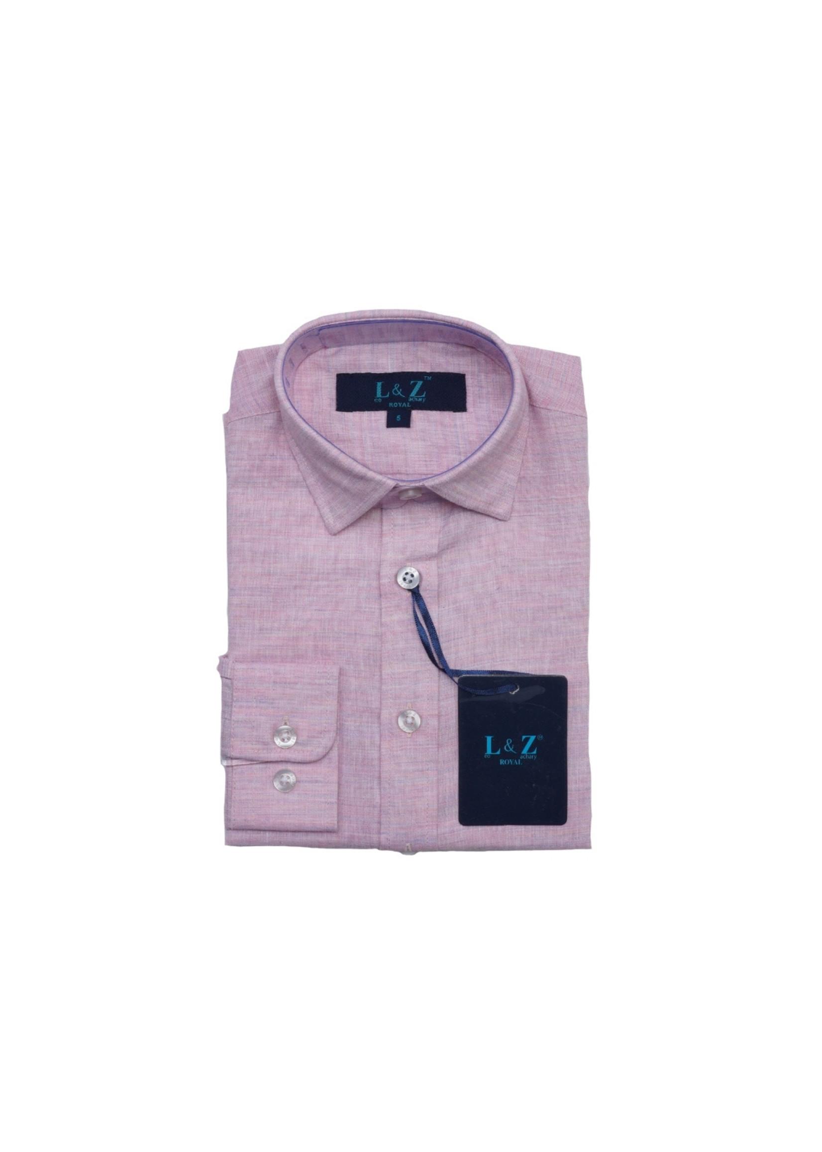 Boys Pink Chambray Dress Shirt