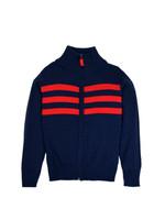 Toobydoo Stripe Zip Sweater
