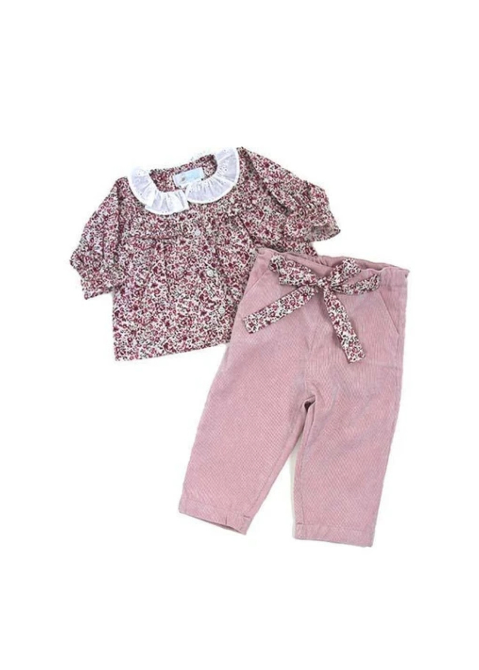 Cuclie Cuclie Freesia Rose Blouse and Pant Set